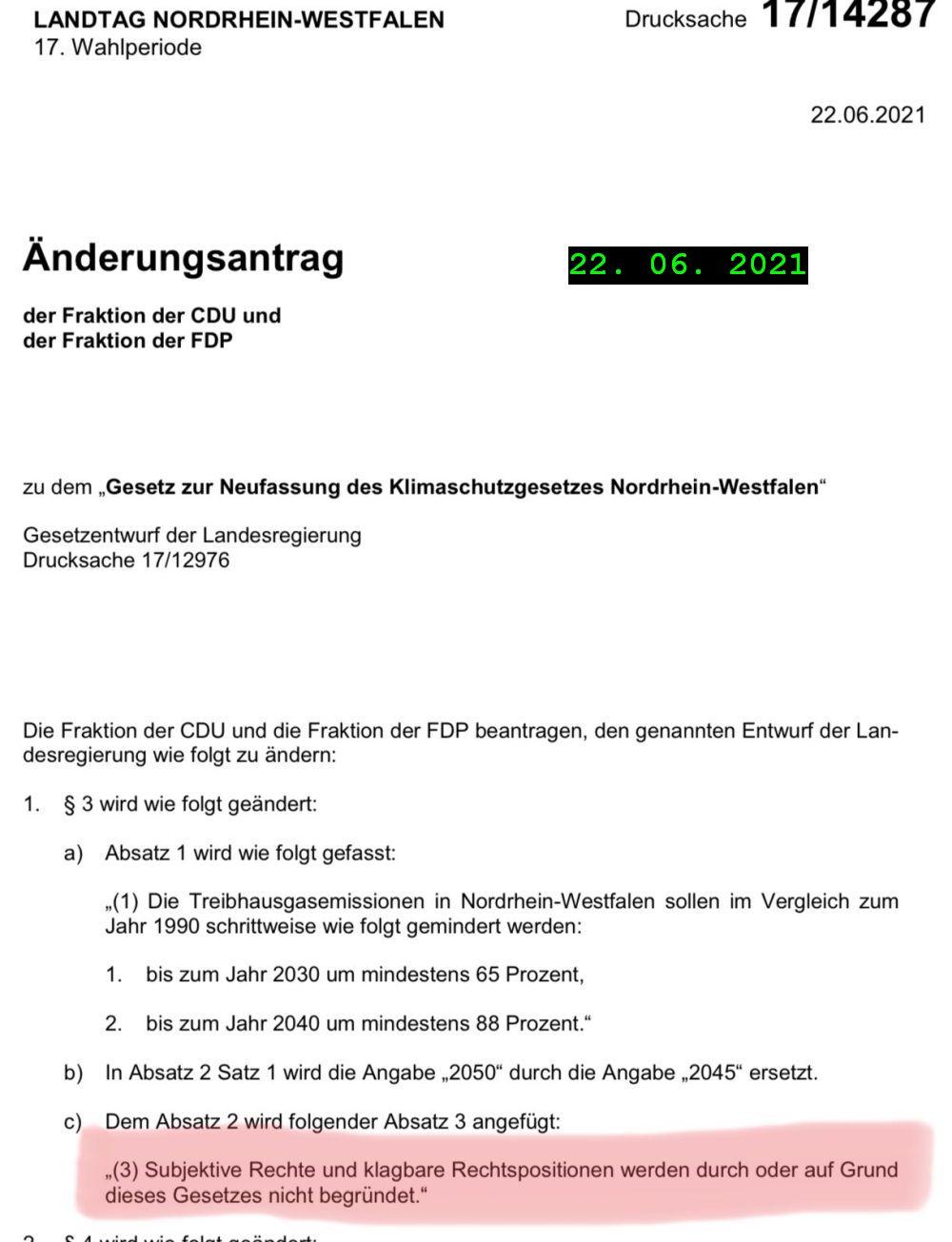 CDU-FDP-NRW-Klimagesetz