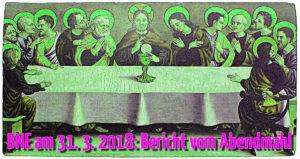 Gemälde mit der Darstellung des Hlg. Abendmahls - grafisch verfremdet